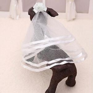 Wedding Veil Bridal Costume  Puppy Cat Pets Accessory Grooming SH