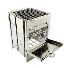 Lixada Folding Burning Stainless Steel Wood Stove Outdoor Picnic Camping Us W6N6