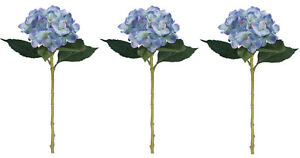 Large Artificial 51cm Hydrangea Flower Stems - Many Colours