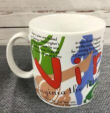 EUC Starbucks States Of Bean VIRGINIA 1997 Coffee Mug 20 oz collectible Vintage