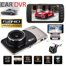 "4"" HD 1080P LCD Dual Lens Auto Car DVR Video Recorder Dash Camera Night Vision"