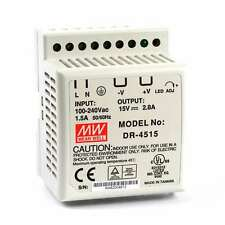 DIN Rail PS 42W 15V 2.8A DR-4515 Meanwell AC-DC SMPS DR-45 Series MEAN WELL Switching Power Supply