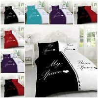 My Space for Him/Her Duvet Quilt Cover+Pillowcases Bedding Sets Double King Size