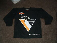 PITTSBURGH PENGUINS 1999-00 PRO PLAYER REPLICA PRACTICE HOCKEY JERSEY YOUTH L/XL