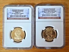 2008 S Andrew Jackson NGC Pf70 UC & First Day of Issue Presidential Dollars BU-P