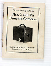 Original Kodak Brownie 2 and 2A instruction manual - 38 pages - printed 1928