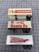 HO Scale Safeway Santa Fe International Piggy Back Trailers Train Railroad W1