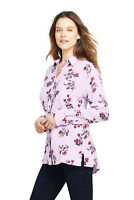 Lands' End NWT Women's Size Brushed Rayon Collared Shirt MSRP $49.95