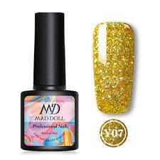 MAD DOLL 24 Colors Glitter UV Gel Polish Bling Sequins Soak Off Nail Gel