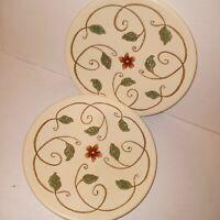 PFALTZGRAFF MISSION FLOWER 8.25 Salad Dessert Plates 8.25 inches Set of 2