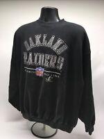 Vtg 90s Logo Athletic ProLine Oakland Raiders Sweatshirt Spell Out Logo Sz XL F1