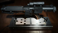Star Wars Light E-11 display stand with LED lights