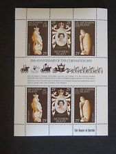 Ascension 1978 25th Ann of Coronation Sheetlet MNH UM unmounted mint x