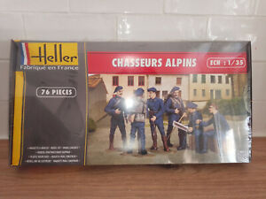 2001211 Maquette kit Neuf Heller figurines chasseurs alpins 1/35