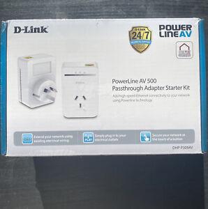 DLINK PowerLine AV 500 Passthrough Adapter Starter Kit   DHP-P309AV