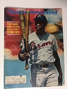 Hank Aaron, Atlanta Braves, 8/18/1969 Sports Illustrated Magazine