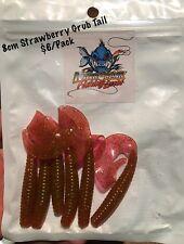 New 8cm Killer Crank Strawberry Grub Tail Soft Plastic Fishing Lures Pack