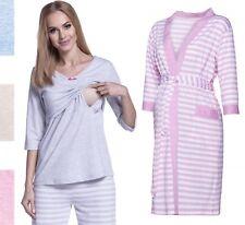 Happy Mama Women's Maternity Top Nursing Pyjamas and Robe SOLD SEPARATELY. 394p