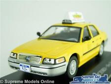 FORD CROWN VICTORIA MODEL CAR TAXI NEW YORK 1:43 SCALE IXO 1998 YELLOW CAB K8