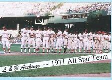 12x18 All Star Game 1971 Photo Red Sox Orioles Tigers Yaz Murcer Robinson Carew