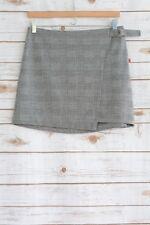 NWT Mossimo - Black & ivory plaid stretch MINI pencil skirt, size 10