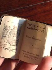 Titus Andronicus - Antique Miniature Shakespeare Book c1930 Stocking Filler