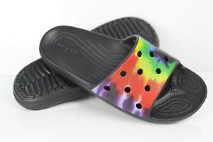 Crocs Women's Classic Crocs Tie-Dye Graphic Slide Sandals Size 7 Multi 206520