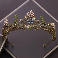 Forest Queen Goddess Tiara Fairy Crown Wedding Party Cosplay Headpiece