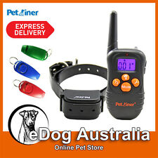 Petrainer Beep and Vibration Rechargeable Remote Dog Training Collar + WHISTLE