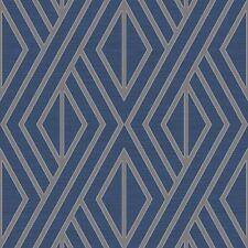 UK30522 - Peartree Geometric Blue Wallpaper
