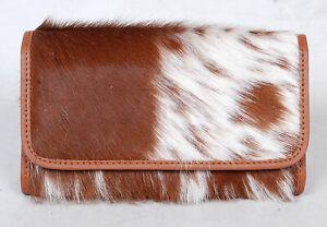 100% Real Cowhide Wallet Real Leather Hair ON Western Ladies Wallets  SA-3039