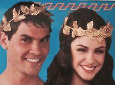 Unisex Ancient Roman Greek Gold leaf wreath god goddess Headpiece Headband