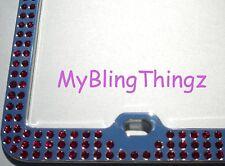Embedded RUBY Crystal BLING Rhinestone License Plate Frame w/ Swarovski Elements