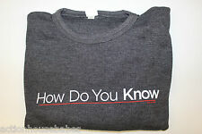 HOW DO YOU KNOW - MOVIE PROMO LONG SLEEVE KNIT SHIRT - Size X-LARGE