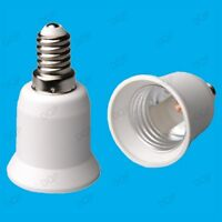 10x Light Bulb Socket Base Converter Adaptor Holder SES E14 to E27 Screw Lamps