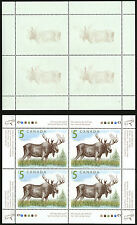 Canada   2003   Unitrade # 1693 ii   MNH Sheet of 4 - Offset of Moose