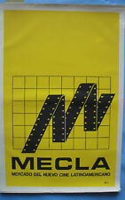 ICAIC MECLA Film Poster M Bachs Yellow Original CUBA CUBAN SILKSCREEN