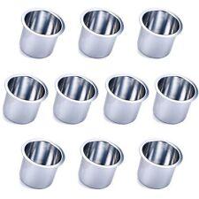 10 PC Jumbo Silver Vivid Aluminum Drop In Drink Custom Poker Table Cup Holders