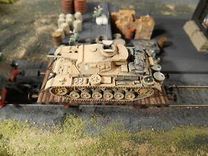 HO Roco Minitanks 15th Panzer Army Tank Railway Car #A1154 Hand Painted