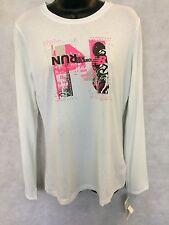 Womens New Balance Ringer Crew Tee Shirt Top Size Small White #W570