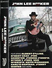 JOHN LEE HOOKER MR LUCKY CASSETTE ALBUM CARLOS SANTANA JOHNNY WINTER BLUES ROCK
