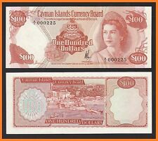 Cayman Islands $100 Dollars (1974) P11 Low number A/1 000225 RARE - UNC Toning