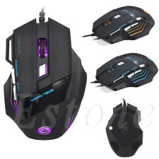 5500DPI 7 Buttons LED USB Optical Wired Gaming Mouse  Mice For Pro Gamer Hot