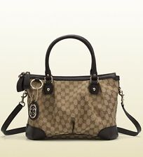 Gucci Sukey Original GG Canvas Top Handle Tote / Shoulder Bag