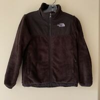 The North Face Brown Oso Fleece Zip-up Jacket Sweater Girls M 10/12