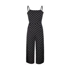 Women Summer Polka Dot Sleeveless Jumpsuit Clubwear Ladies Wide Leg Pant Outfits