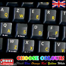 English UK Transparent Keyboard Stickers for Laptop Notebook Computer - 6 Colour