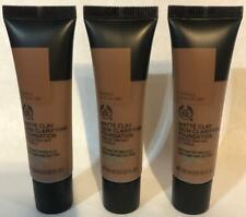 The Body Shop Matte Clay Skin Clarifying Foundation Tamale Cocoa 080 1 oz. x3.