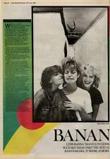 Bananarama Interview NME Cutting 1982