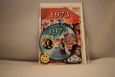 Flickback Greeting or Birthday Card With DVD  For Those Born in 1973    (v417)